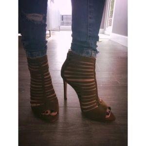 Zara Shoes - Zara Brown caged heel sandals  booties